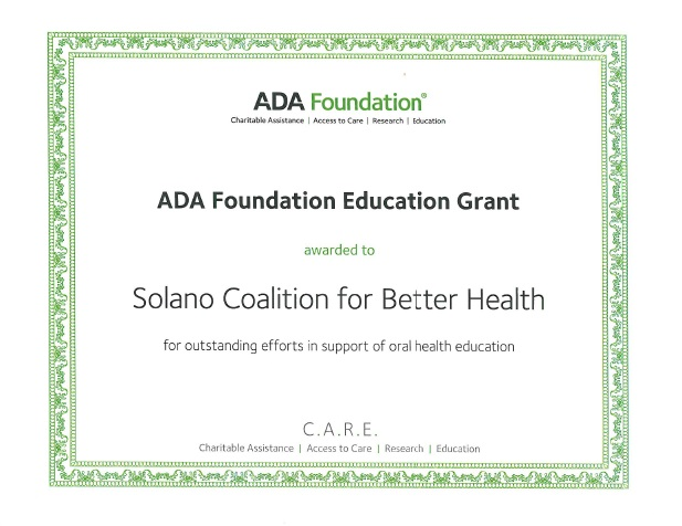 Certificate ADA